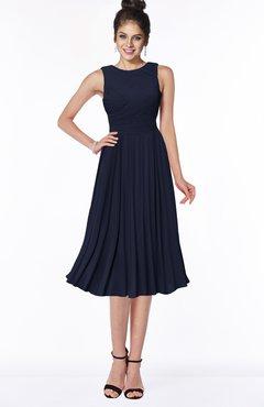 ColsBM Aileen Dark Sapphire Gorgeous A-line Sleeveless Chiffon Pick up Bridesmaid Dresses
