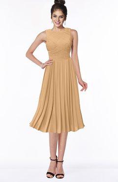 ColsBM Aileen Desert Mist Gorgeous A-line Sleeveless Chiffon Pick up Bridesmaid Dresses
