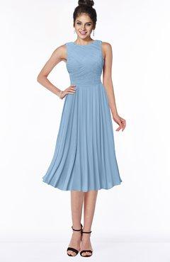 ColsBM Aileen Dusty Blue Gorgeous A-line Sleeveless Chiffon Pick up Bridesmaid Dresses