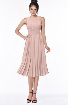 ColsBM Aileen Dusty Rose Gorgeous A-line Sleeveless Chiffon Pick up Bridesmaid Dresses