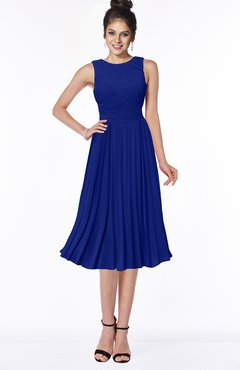 ColsBM Aileen Electric Blue Gorgeous A-line Sleeveless Chiffon Pick up Bridesmaid Dresses