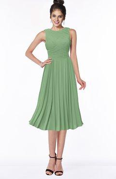 ColsBM Aileen Fair Green Gorgeous A-line Sleeveless Chiffon Pick up Bridesmaid Dresses