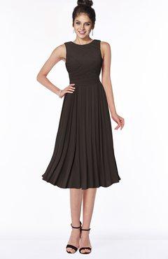 ColsBM Aileen Fudge Brown Gorgeous A-line Sleeveless Chiffon Pick up Bridesmaid Dresses
