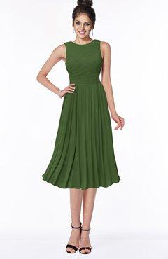 ColsBM Aileen Garden Green Gorgeous A-line Sleeveless Chiffon Pick up Bridesmaid Dresses