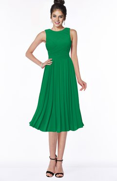 ColsBM Aileen Green Gorgeous A-line Sleeveless Chiffon Pick up Bridesmaid Dresses