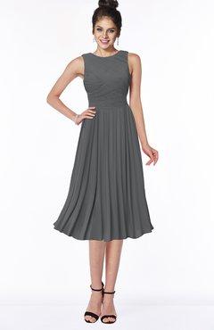 ColsBM Aileen Grey Gorgeous A-line Sleeveless Chiffon Pick up Bridesmaid Dresses