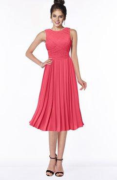 ColsBM Aileen Guava Gorgeous A-line Sleeveless Chiffon Pick up Bridesmaid Dresses