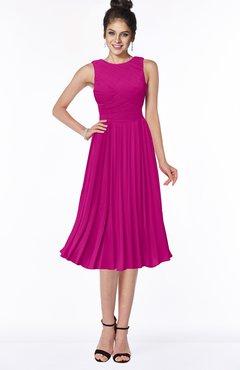 ColsBM Aileen Hot Pink Gorgeous A-line Sleeveless Chiffon Pick up Bridesmaid Dresses