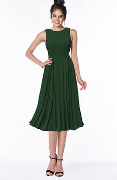 ColsBM Aileen Hunter Green Gorgeous A-line Sleeveless Chiffon Pick up Bridesmaid Dresses