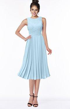 ColsBM Aileen Ice Blue Gorgeous A-line Sleeveless Chiffon Pick up Bridesmaid Dresses
