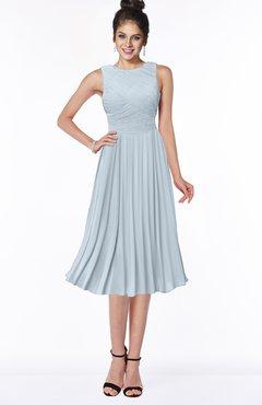 ColsBM Aileen Illusion Blue Gorgeous A-line Sleeveless Chiffon Pick up Bridesmaid Dresses
