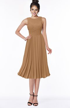 ColsBM Aileen Light Brown Gorgeous A-line Sleeveless Chiffon Pick up Bridesmaid Dresses