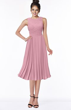 ColsBM Aileen Light Coral Gorgeous A-line Sleeveless Chiffon Pick up Bridesmaid Dresses