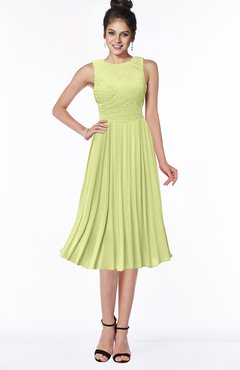 ColsBM Aileen Lime Green Gorgeous A-line Sleeveless Chiffon Pick up Bridesmaid Dresses