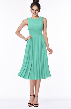 ColsBM Aileen Mint Green Gorgeous A-line Sleeveless Chiffon Pick up Bridesmaid Dresses