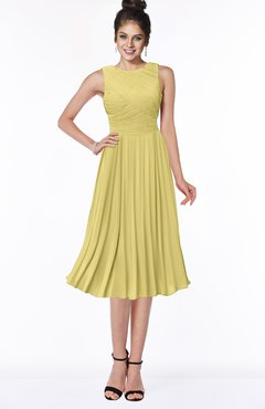 ColsBM Aileen Misted Yellow Gorgeous A-line Sleeveless Chiffon Pick up Bridesmaid Dresses