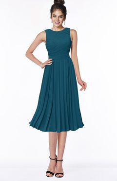 ColsBM Aileen Moroccan Blue Gorgeous A-line Sleeveless Chiffon Pick up Bridesmaid Dresses