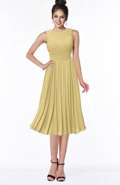 ColsBM Aileen New Wheat Gorgeous A-line Sleeveless Chiffon Pick up Bridesmaid Dresses