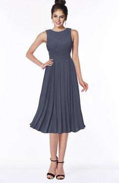 ColsBM Aileen Nightshadow Blue Gorgeous A-line Sleeveless Chiffon Pick up Bridesmaid Dresses