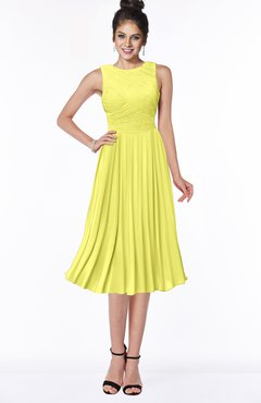 ColsBM Aileen Pale Yellow Gorgeous A-line Sleeveless Chiffon Pick up Bridesmaid Dresses