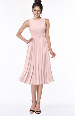 ColsBM Aileen Pastel Pink Gorgeous A-line Sleeveless Chiffon Pick up Bridesmaid Dresses