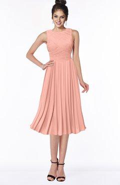 ColsBM Aileen Peach Gorgeous A-line Sleeveless Chiffon Pick up Bridesmaid Dresses