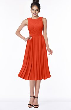 ColsBM Aileen Persimmon Gorgeous A-line Sleeveless Chiffon Pick up Bridesmaid Dresses