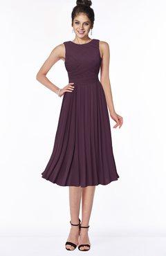 ColsBM Aileen Plum Gorgeous A-line Sleeveless Chiffon Pick up Bridesmaid Dresses