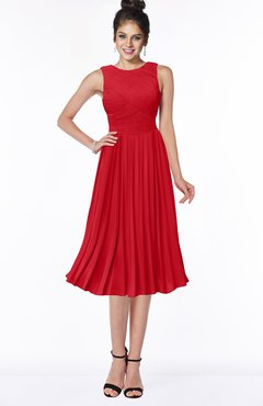 ColsBM Aileen Red Gorgeous A-line Sleeveless Chiffon Pick up Bridesmaid Dresses