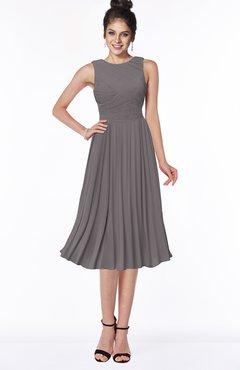 ColsBM Aileen Ridge Grey Gorgeous A-line Sleeveless Chiffon Pick up Bridesmaid Dresses