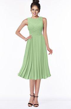 ColsBM Aileen Sage Green Gorgeous A-line Sleeveless Chiffon Pick up Bridesmaid Dresses
