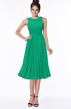 ColsBM Aileen Sea Green Gorgeous A-line Sleeveless Chiffon Pick up Bridesmaid Dresses