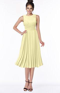 ColsBM Aileen Soft Yellow Gorgeous A-line Sleeveless Chiffon Pick up Bridesmaid Dresses
