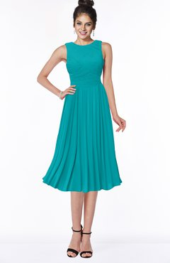 ColsBM Aileen Teal Gorgeous A-line Sleeveless Chiffon Pick up Bridesmaid Dresses