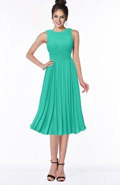 ColsBM Aileen Viridian Green Gorgeous A-line Sleeveless Chiffon Pick up Bridesmaid Dresses