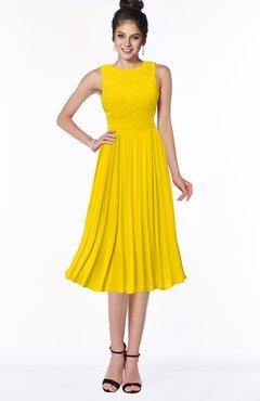 ColsBM Aileen Yellow Gorgeous A-line Sleeveless Chiffon Pick up Bridesmaid Dresses
