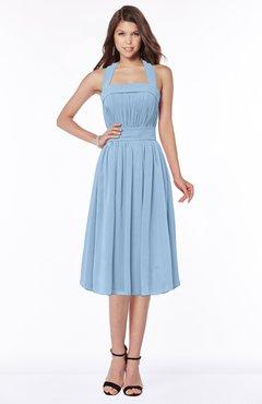 ColsBM Montana Dusty Blue Luxury A-line Sleeveless Chiffon Pleated Bridesmaid Dresses