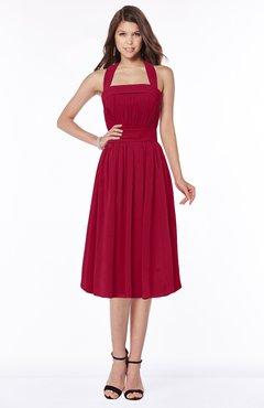 ColsBM Montana Maroon Luxury A-line Sleeveless Chiffon Pleated Bridesmaid Dresses