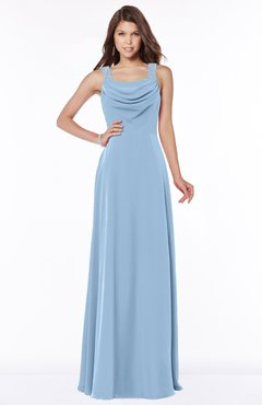 ColsBM Thea Dusty Blue Elegant Wide Square Sleeveless Half Backless Chiffon Beaded Bridesmaid Dresses