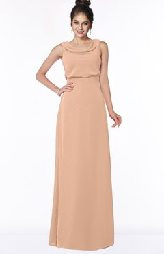 ColsBM Eileen Almost Apricot Gorgeous A-line Scoop Sleeveless Floor Length Bridesmaid Dresses