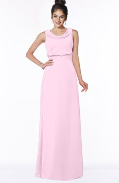 ColsBM Eileen Baby Pink Gorgeous A-line Scoop Sleeveless Floor Length Bridesmaid Dresses