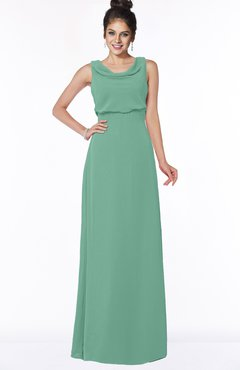 ColsBM Eileen Beryl Green Gorgeous A-line Scoop Sleeveless Floor Length Bridesmaid Dresses