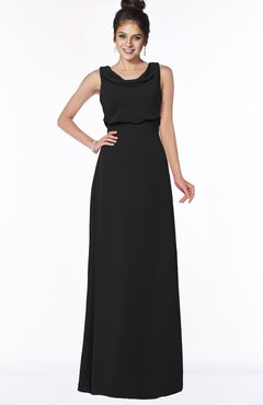 ColsBM Eileen Black Gorgeous A-line Scoop Sleeveless Floor Length Bridesmaid Dresses