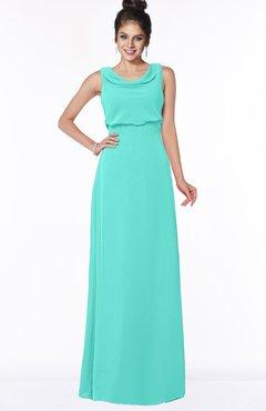 ColsBM Eileen Blue Turquoise Gorgeous A-line Scoop Sleeveless Floor Length Bridesmaid Dresses