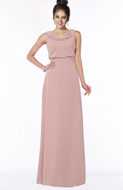 ColsBM Eileen Blush Pink Gorgeous A-line Scoop Sleeveless Floor Length Bridesmaid Dresses