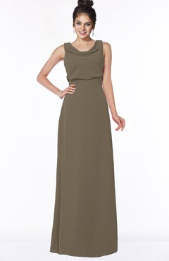 ColsBM Eileen Carafe Brown Gorgeous A-line Scoop Sleeveless Floor Length Bridesmaid Dresses