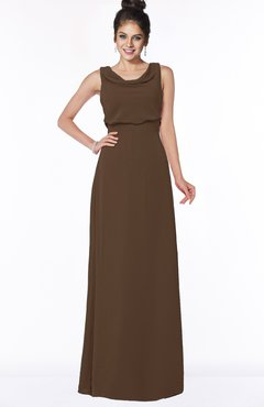 ColsBM Eileen Chocolate Brown Gorgeous A-line Scoop Sleeveless Floor Length Bridesmaid Dresses