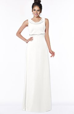 ColsBM Eileen Cloud White Gorgeous A-line Scoop Sleeveless Floor Length Bridesmaid Dresses