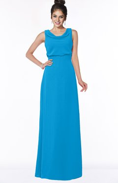 ColsBM Eileen Cornflower Blue Gorgeous A-line Scoop Sleeveless Floor Length Bridesmaid Dresses