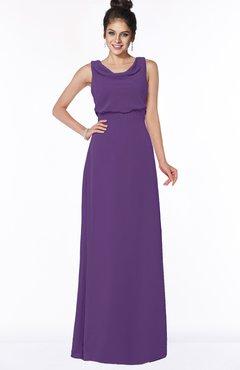 ColsBM Eileen Dark Purple Gorgeous A-line Scoop Sleeveless Floor Length Bridesmaid Dresses